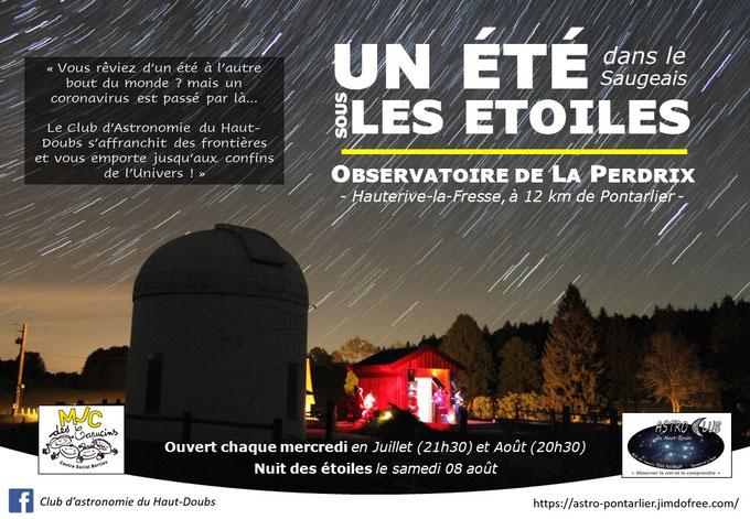 Soirée astronomie Doubs